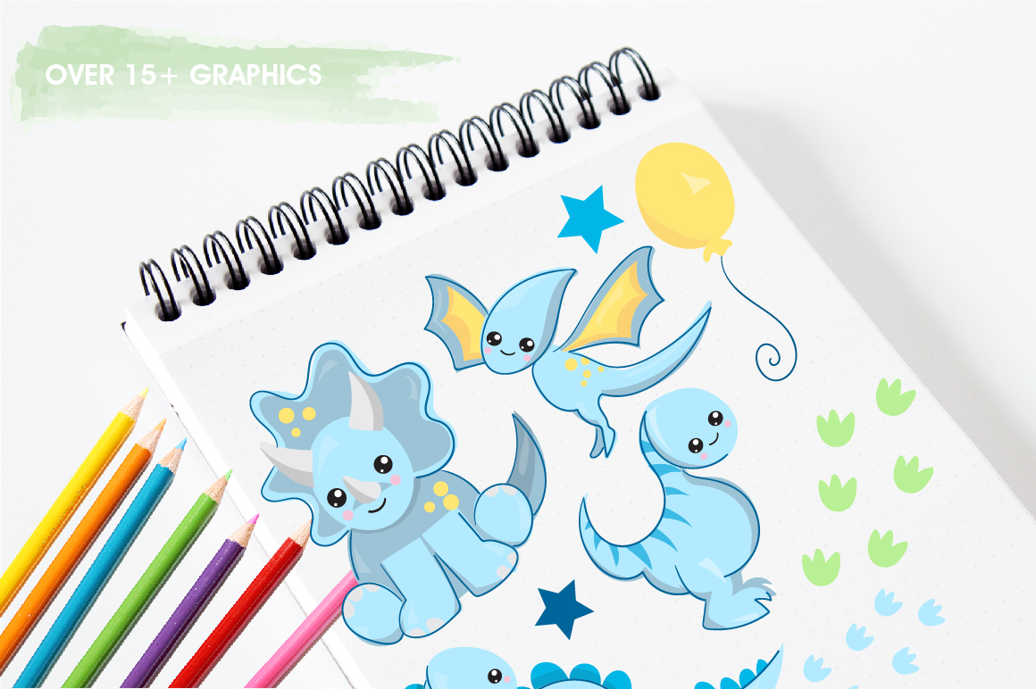 Nursery dinosaurs graphics and illustrations example image 3