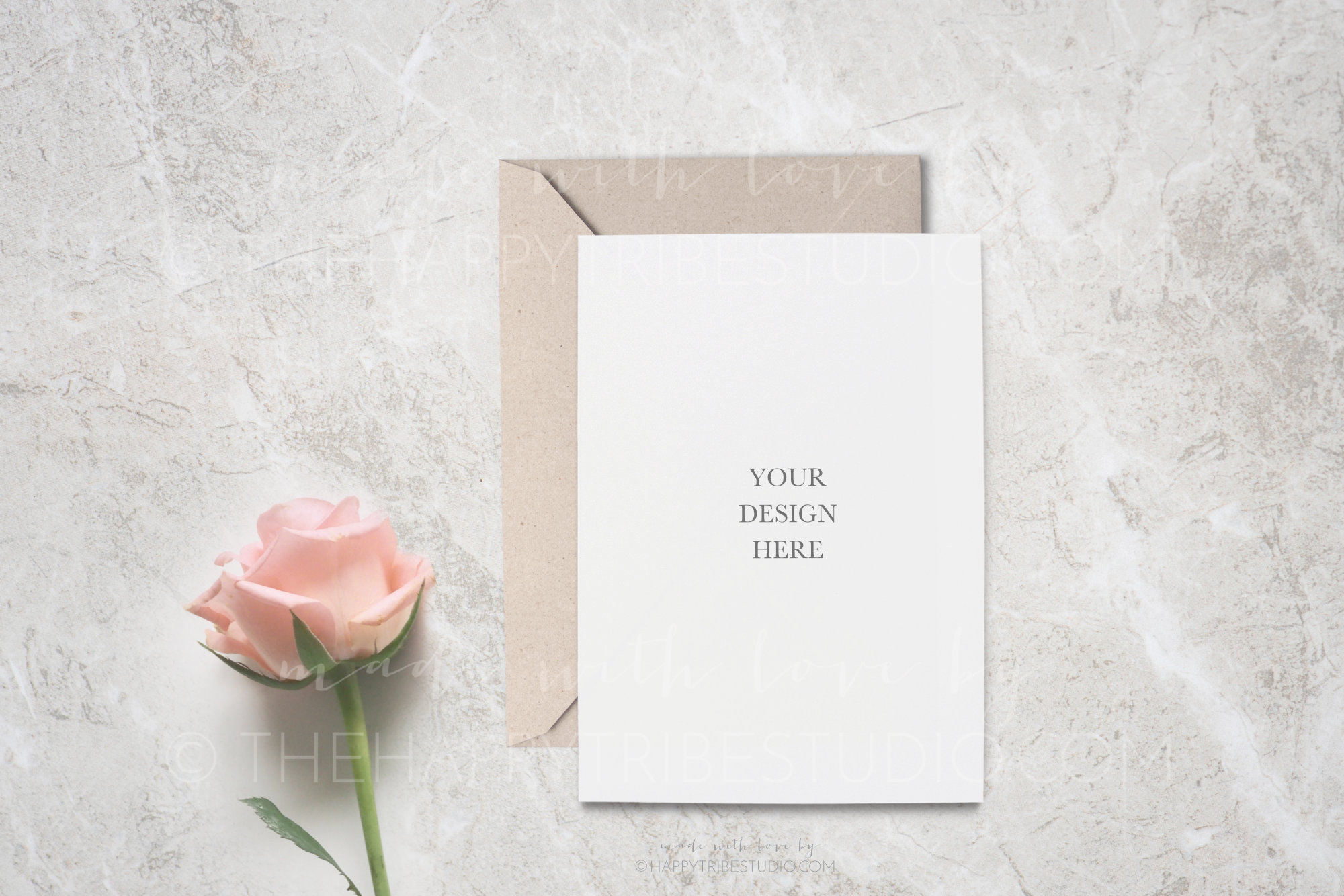 Wedding Mockup   Invitation Mockup   Card & envelope mockup example image 1