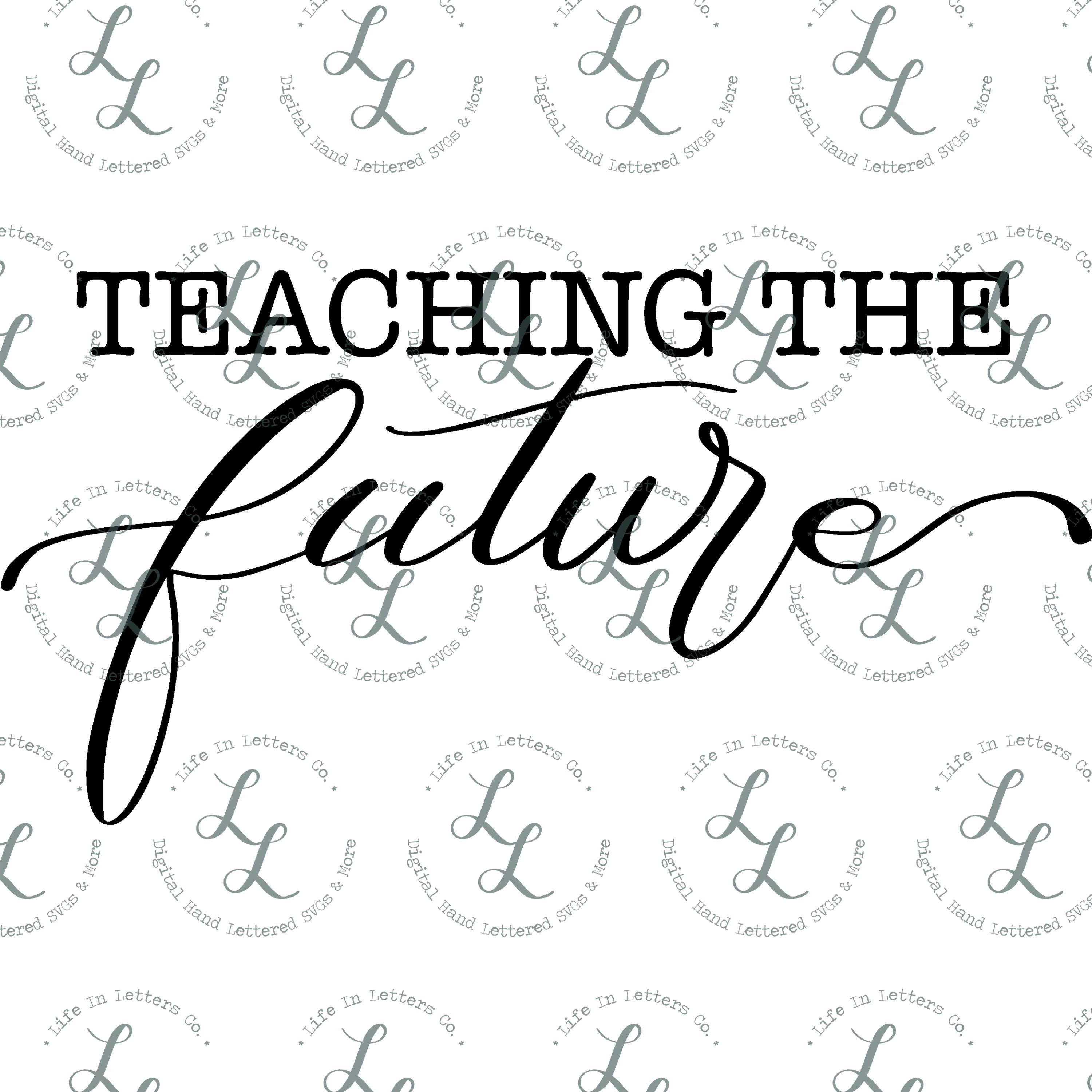 Teaching The Future - Cut File, SVG, PNG, EPS, DXF example image 2