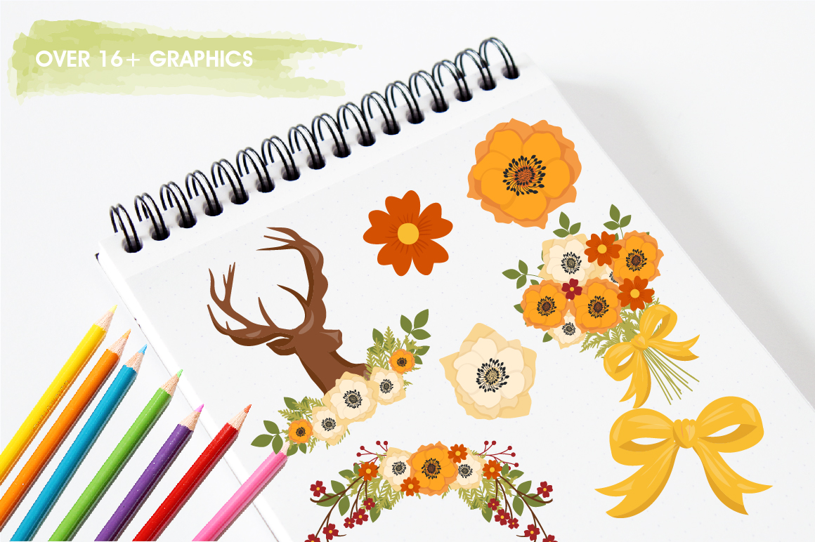 Autumn Woods graphics and illustrations example image 3
