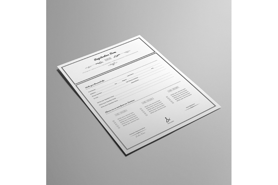 Registration Form Template v10 example image 5