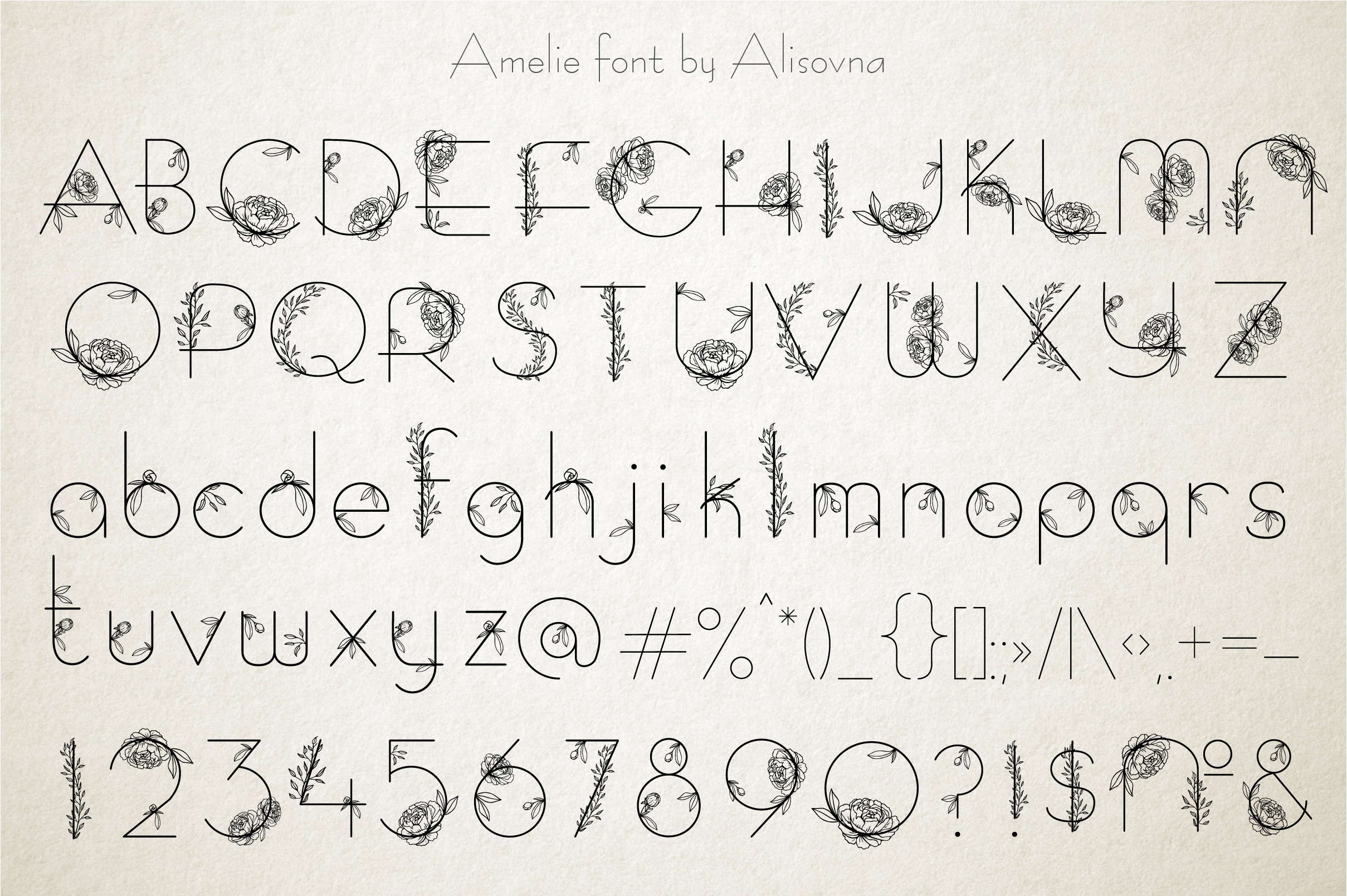 Amelie Floral Display Font example image 4
