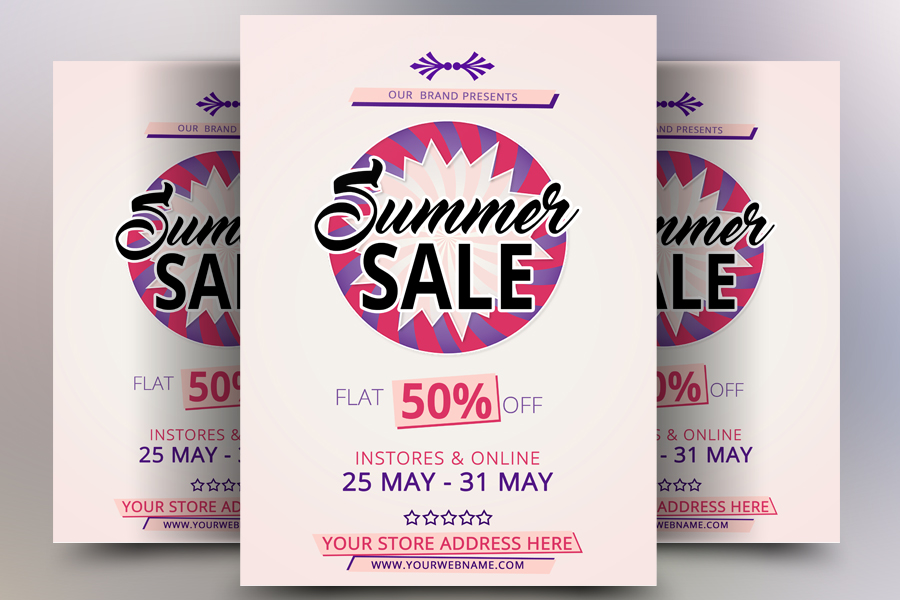 Flat Summer Sale Flyer example image 1