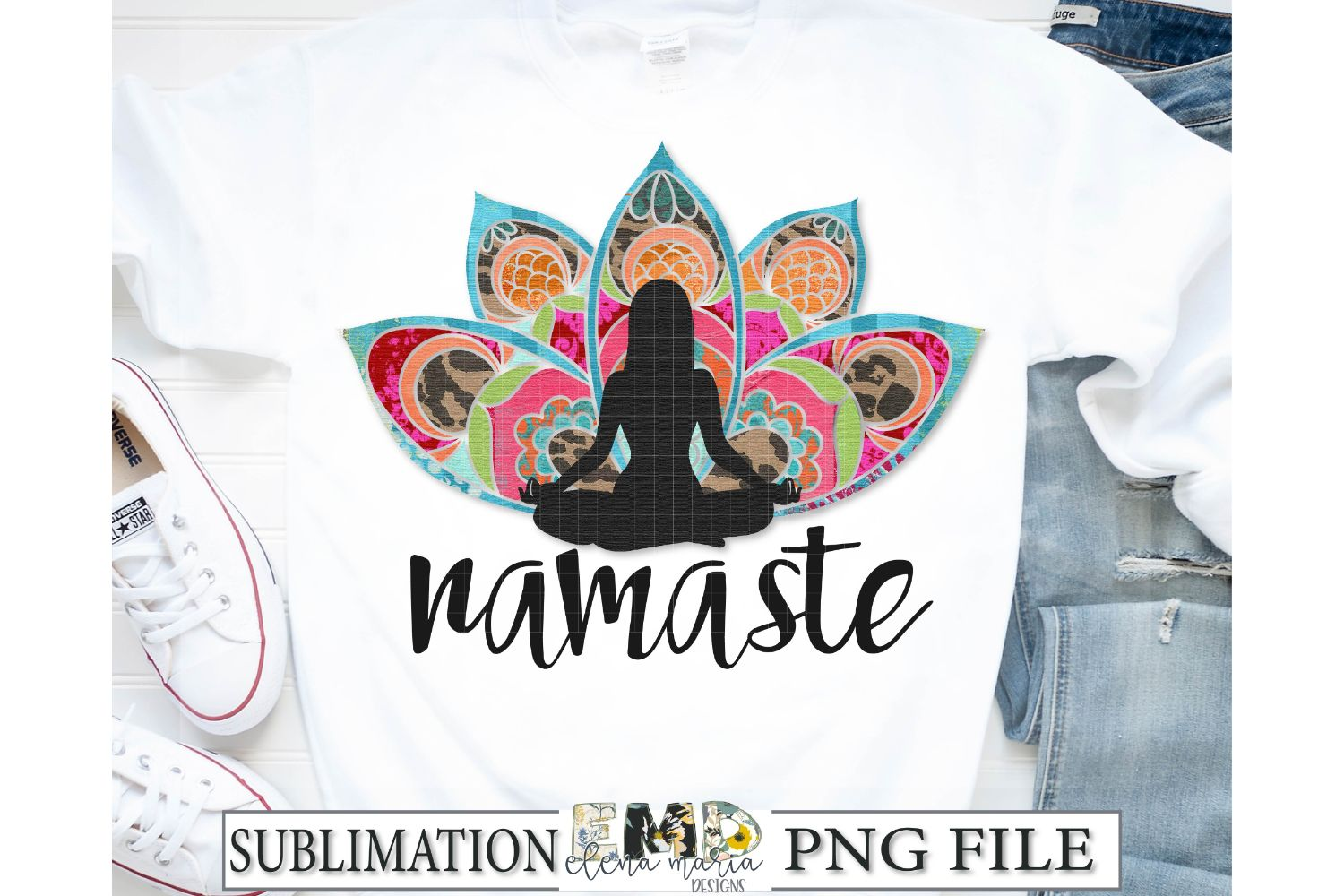 Namaste Sublimation Transfer PNG Clipart example image 1