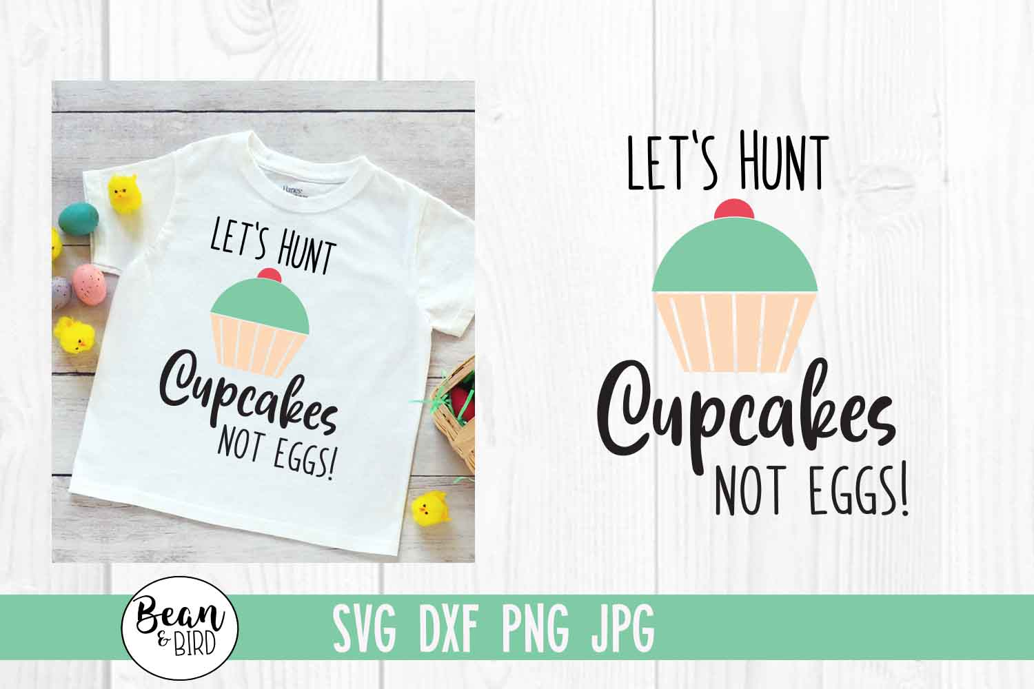 Lets Hunt Cupcakes Easter SVG example image 1