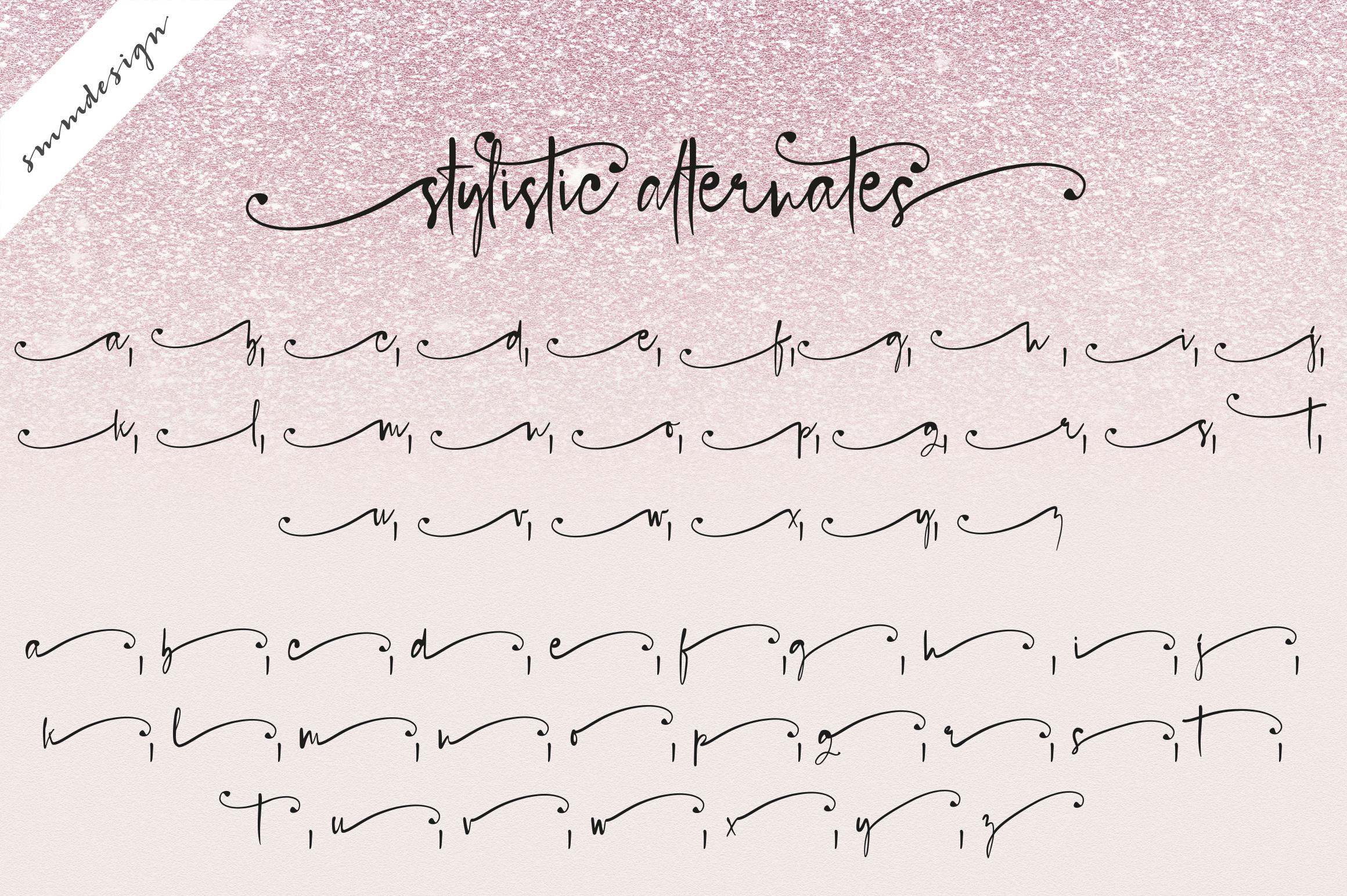 Blush Pink Handwritten Script Font example image 5