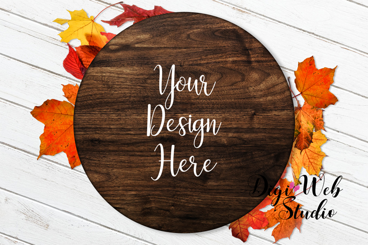 Mockup Bundle - Fall Country Wood Signs, Pillow & Coffee Cup example image 3