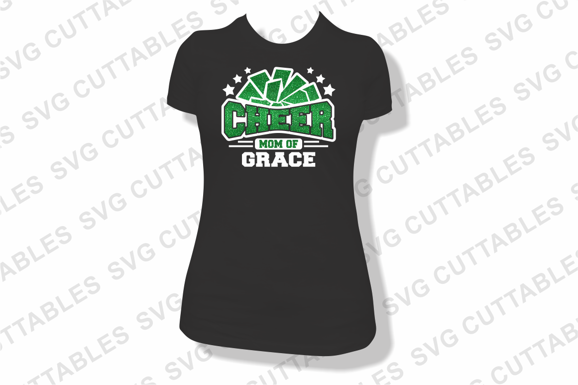 Proud Cheer   SVG Cut File example image 2