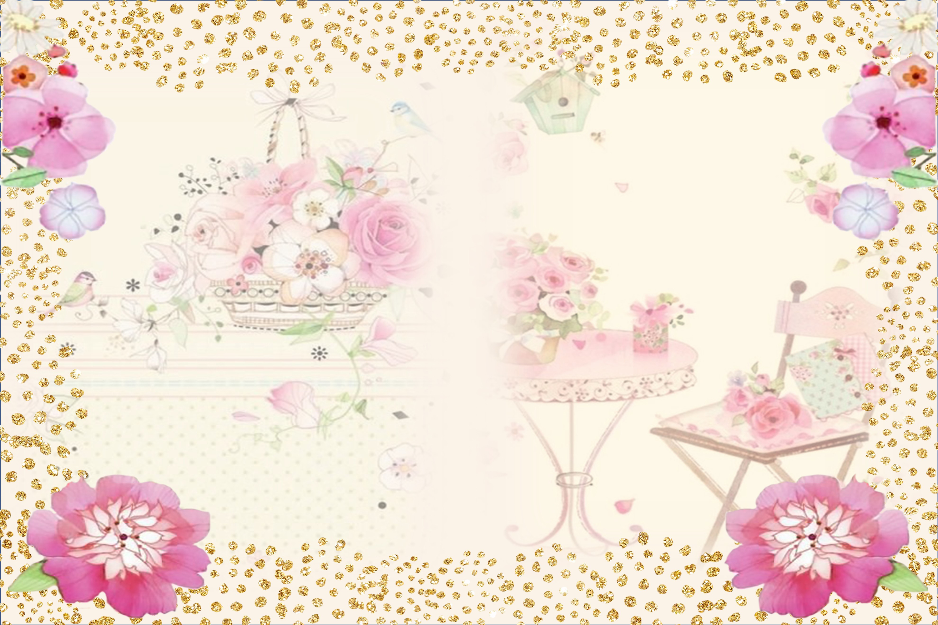 Country Springtime Watercolour Backgrounds, Ephemera &PNG example image 3