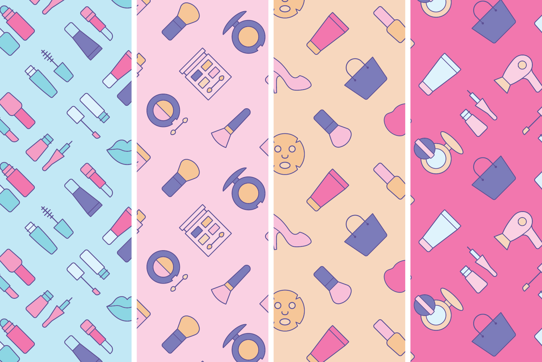 Cosmetics Seamless Patterns example image 6