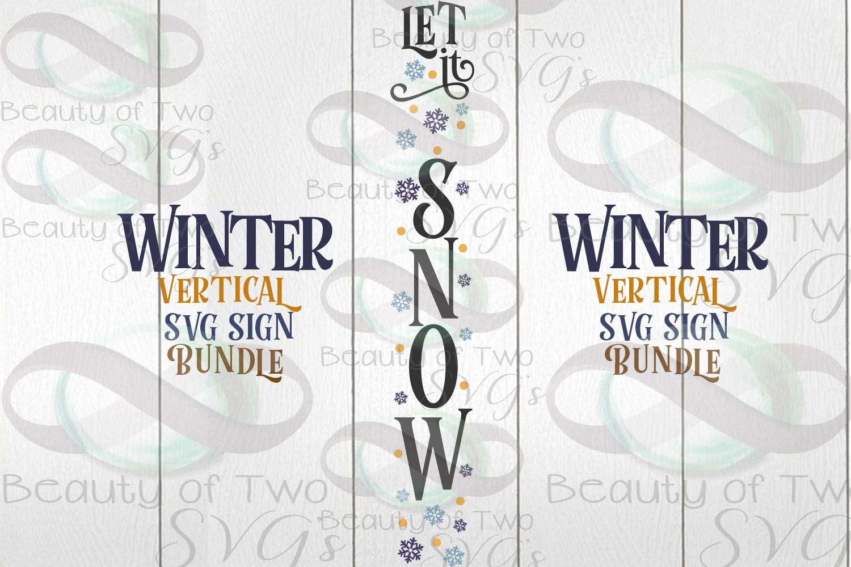 Winter Vertical svg Sign Bundle, 4 Winter svg designs example image 3