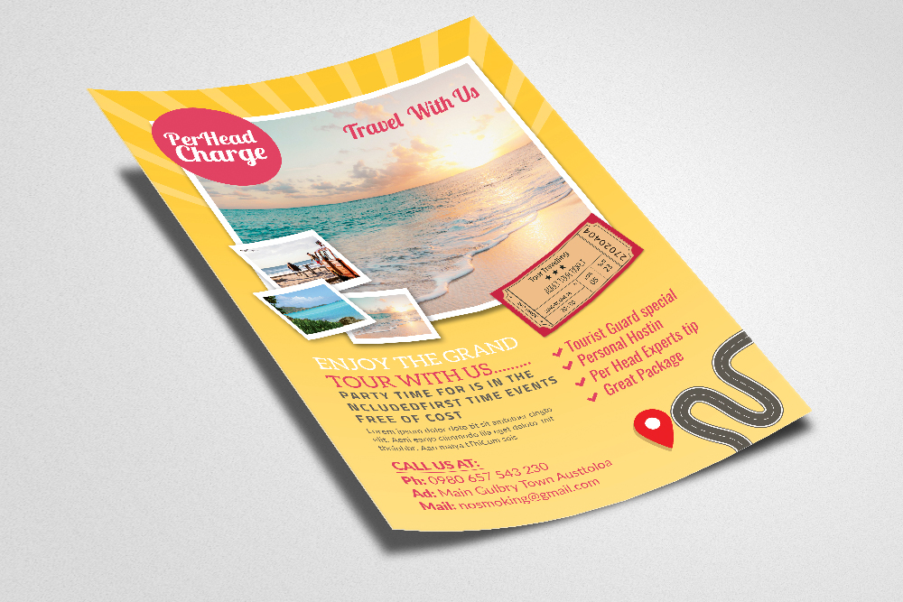 Tour & Holidays Flyer Template example image 2