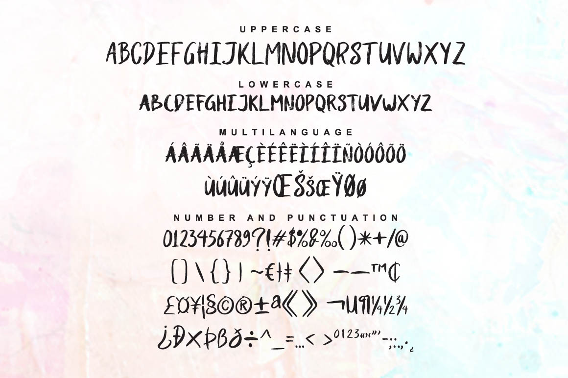 Shutten Reason - Duo Handwritting Brush Font example image 9