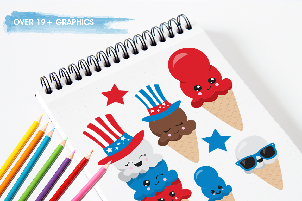 4th of July graphics and illustrations example image 5