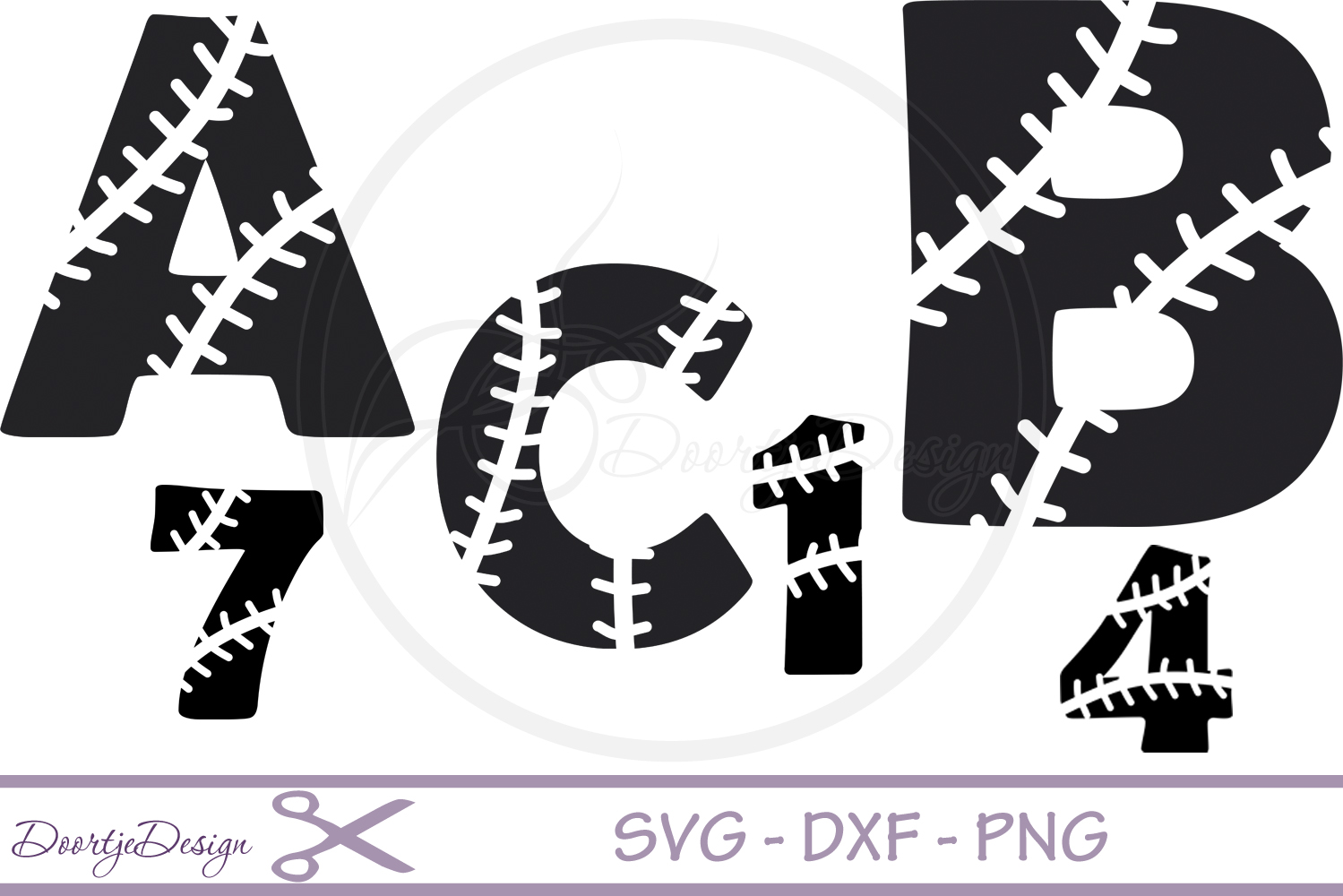 Baseball Alphabet svg files example image 1