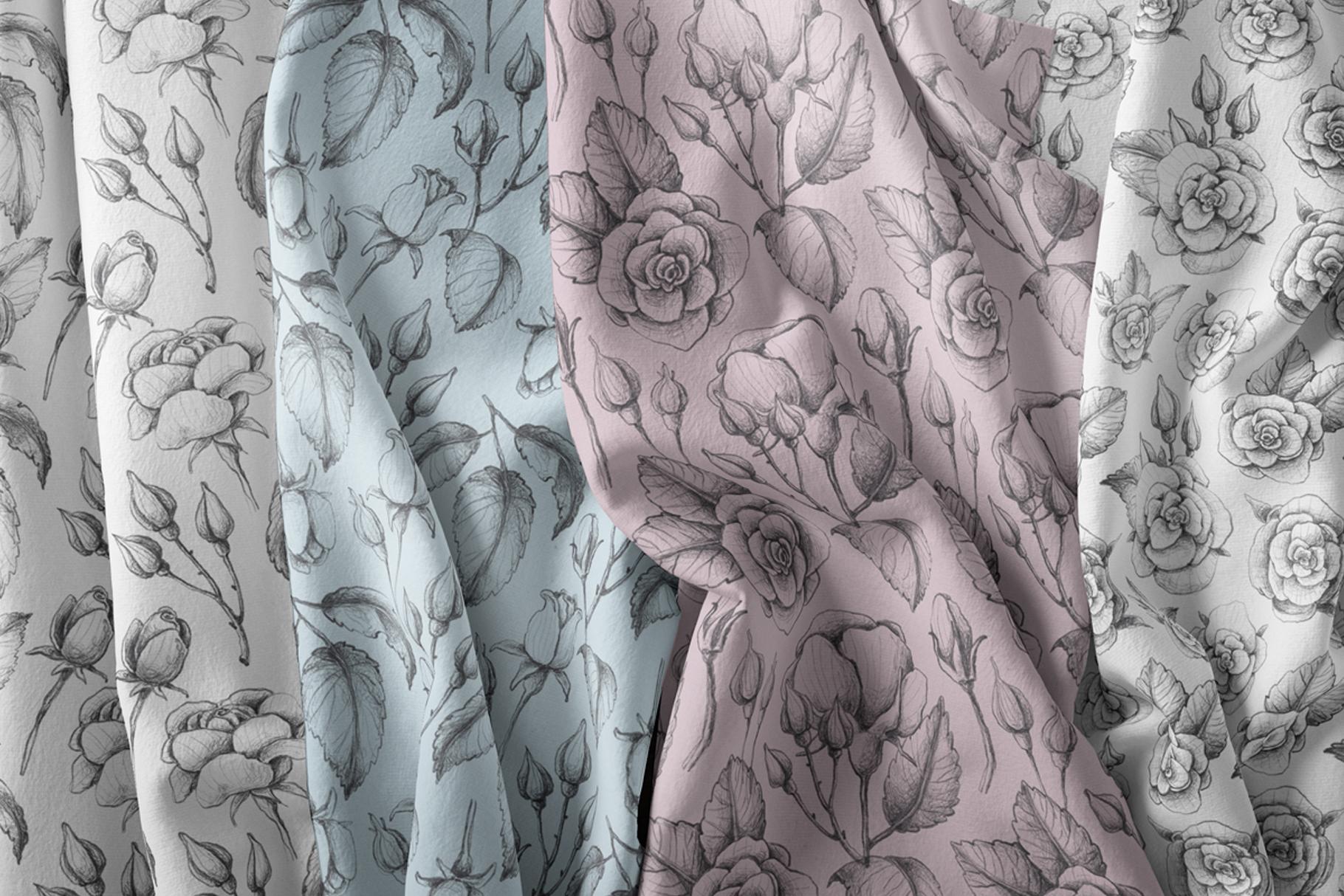 Sketched roses, patterns, frames example image 7