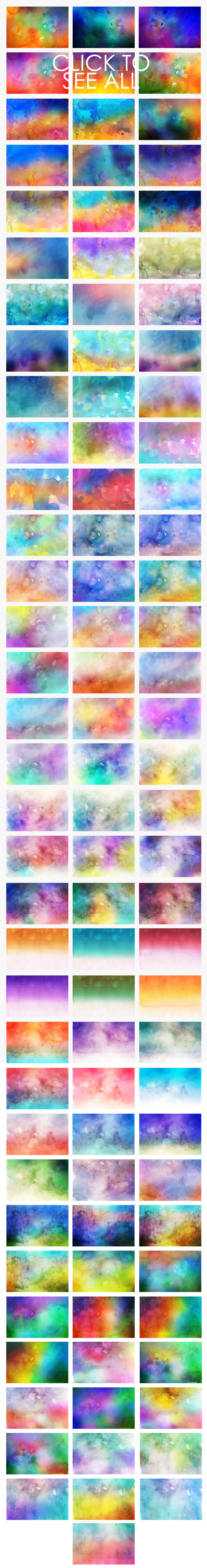 Only Watercolor Backgrounds Bundle example image 13