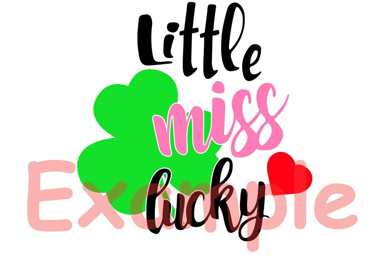 Little miss lucky St Patricks shamrock svg, irish svg -744s example image 4