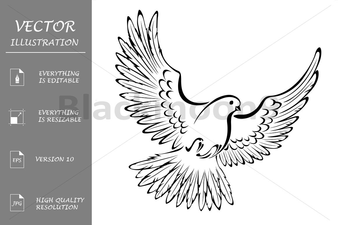 Stylized Dove example image 1