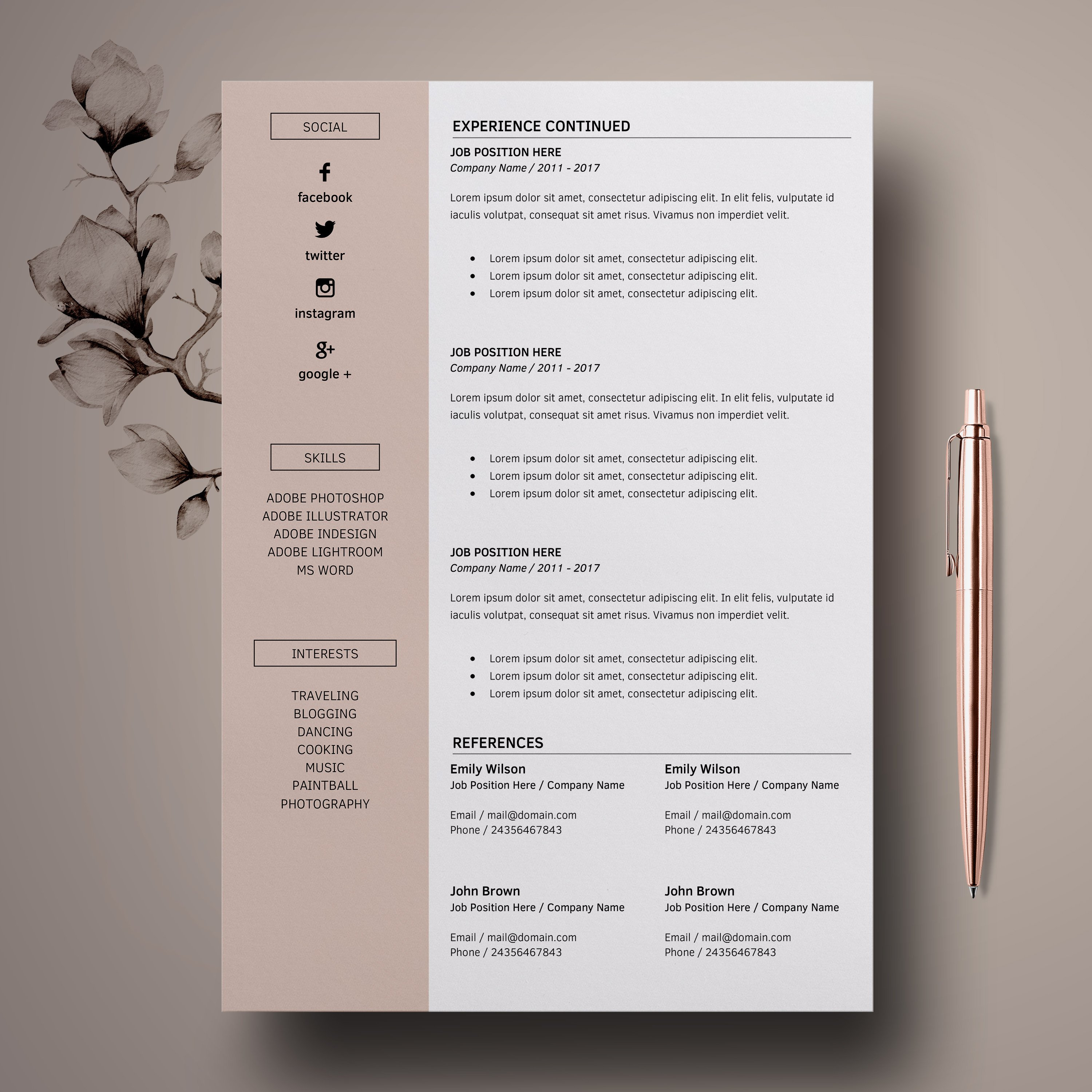Resume   CV Template Cover Letter - Laura Cambell