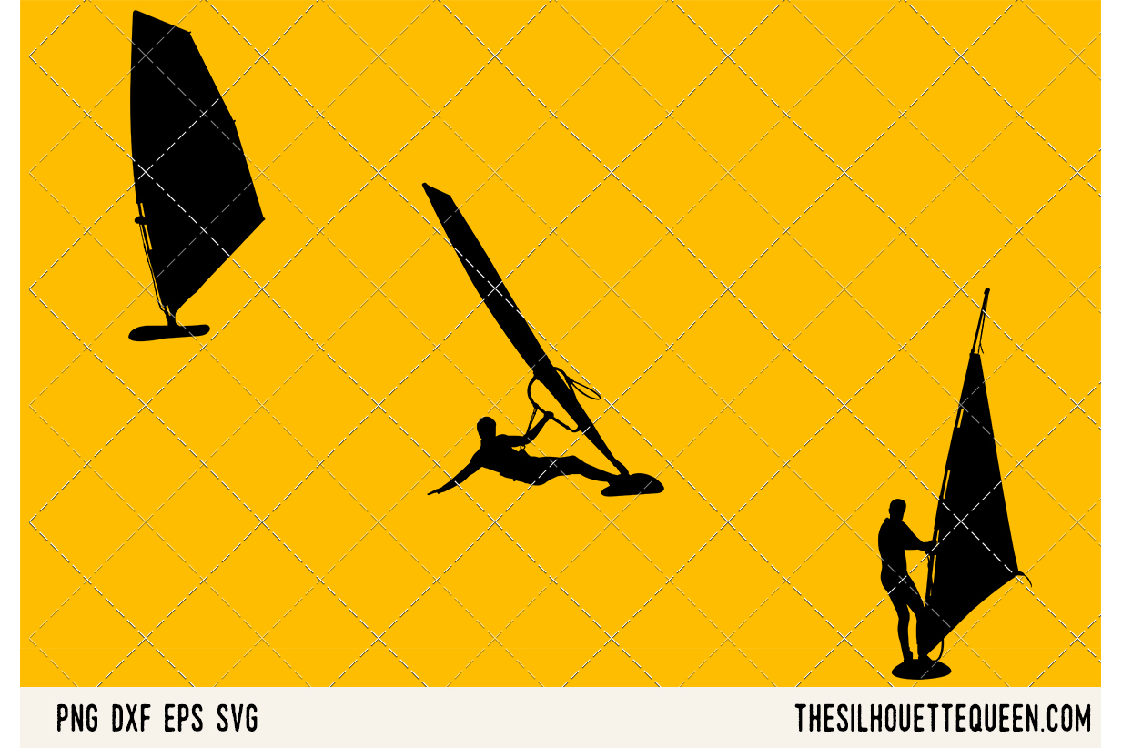Wind Surfing SVG example image 1