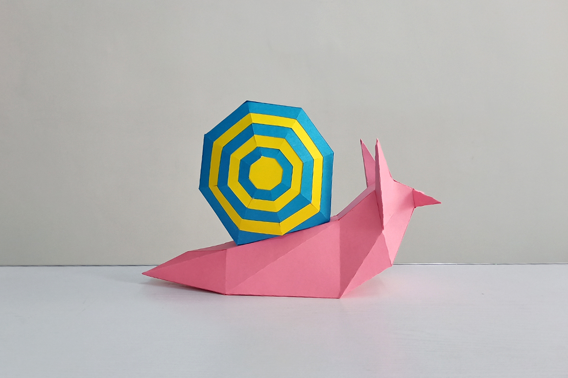 DIY Papercraft Snail,Paper Snail model,Printables,Paper toy example image 4