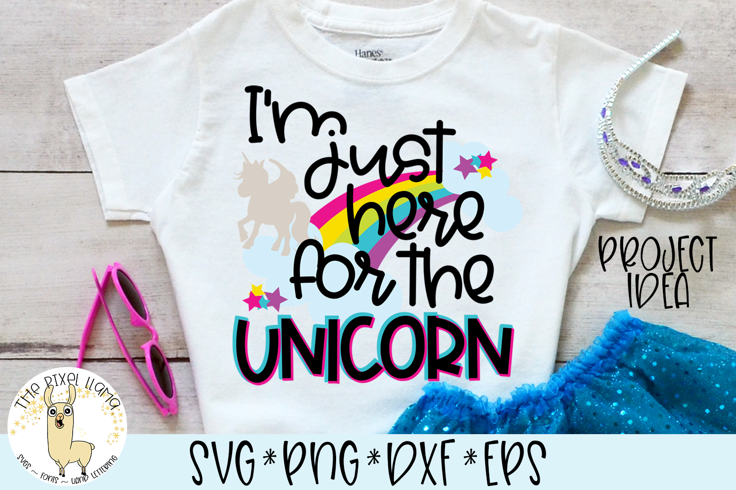 I'm Just Here For The Unicorn SVG Cut File example image 2