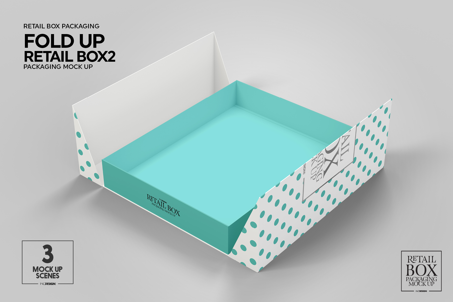 Fold Up Retail Thin Box Packaging Mockup example image 9