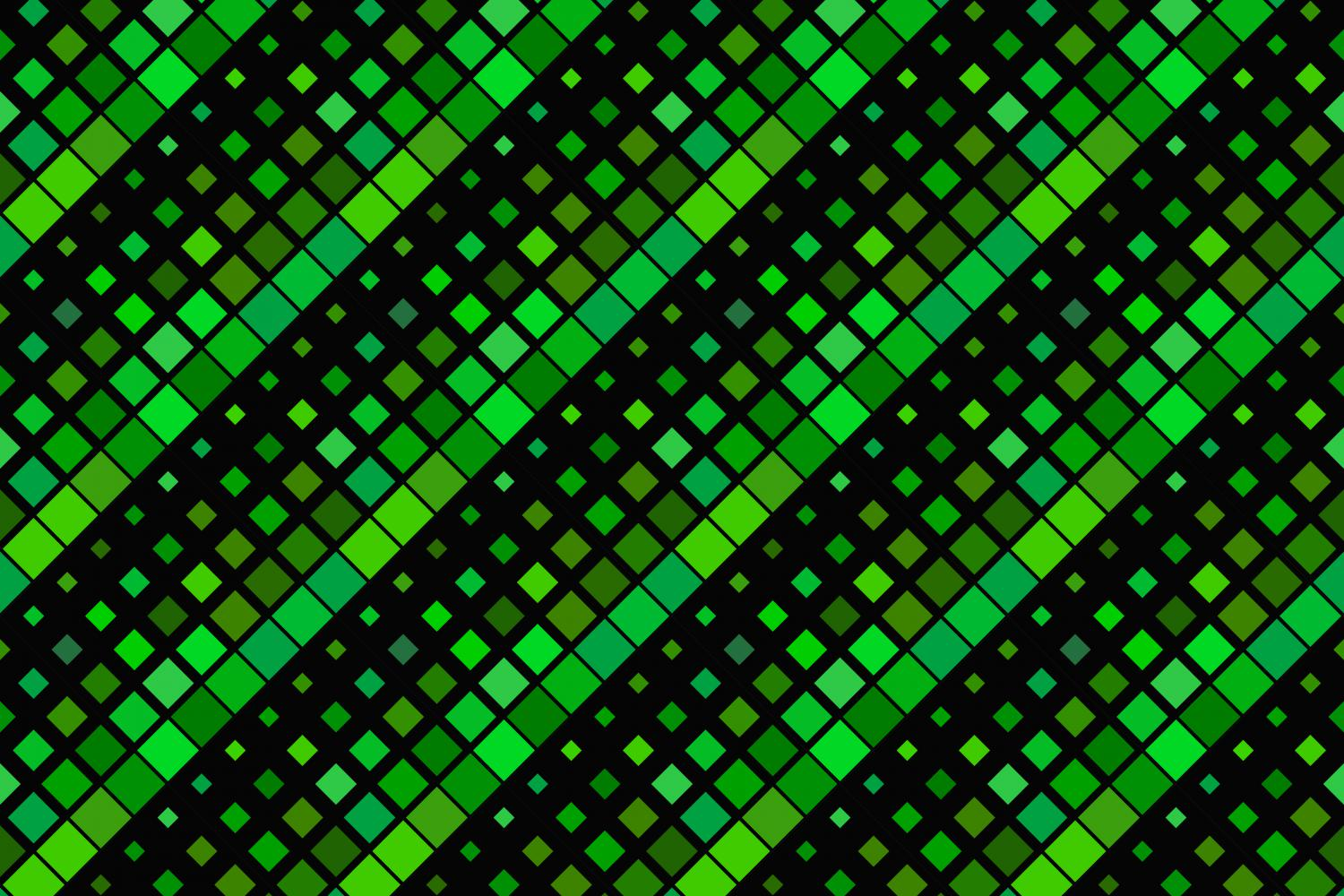 24 Seamless Green Square Patterns example image 10