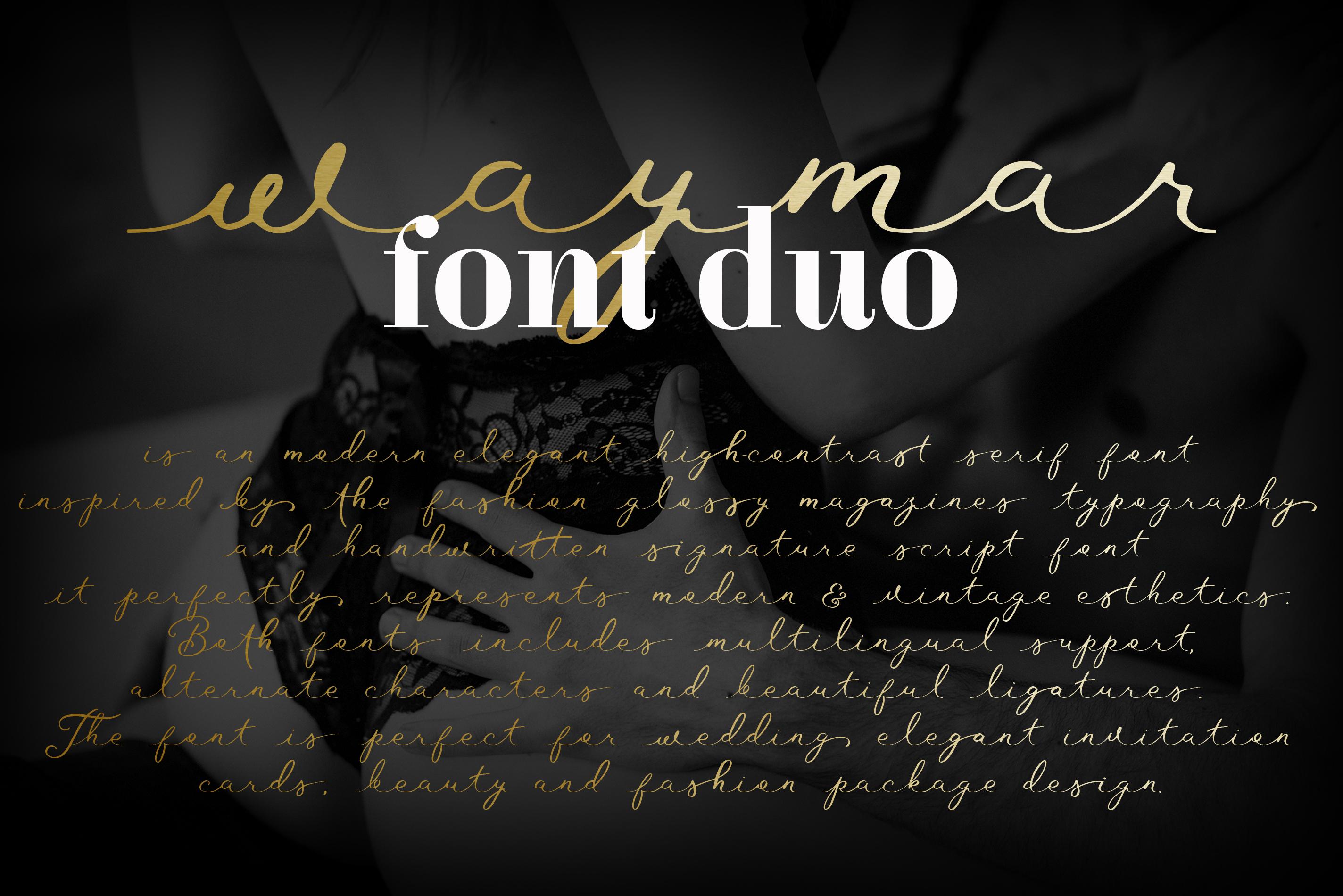 Waymar font duo example image 2
