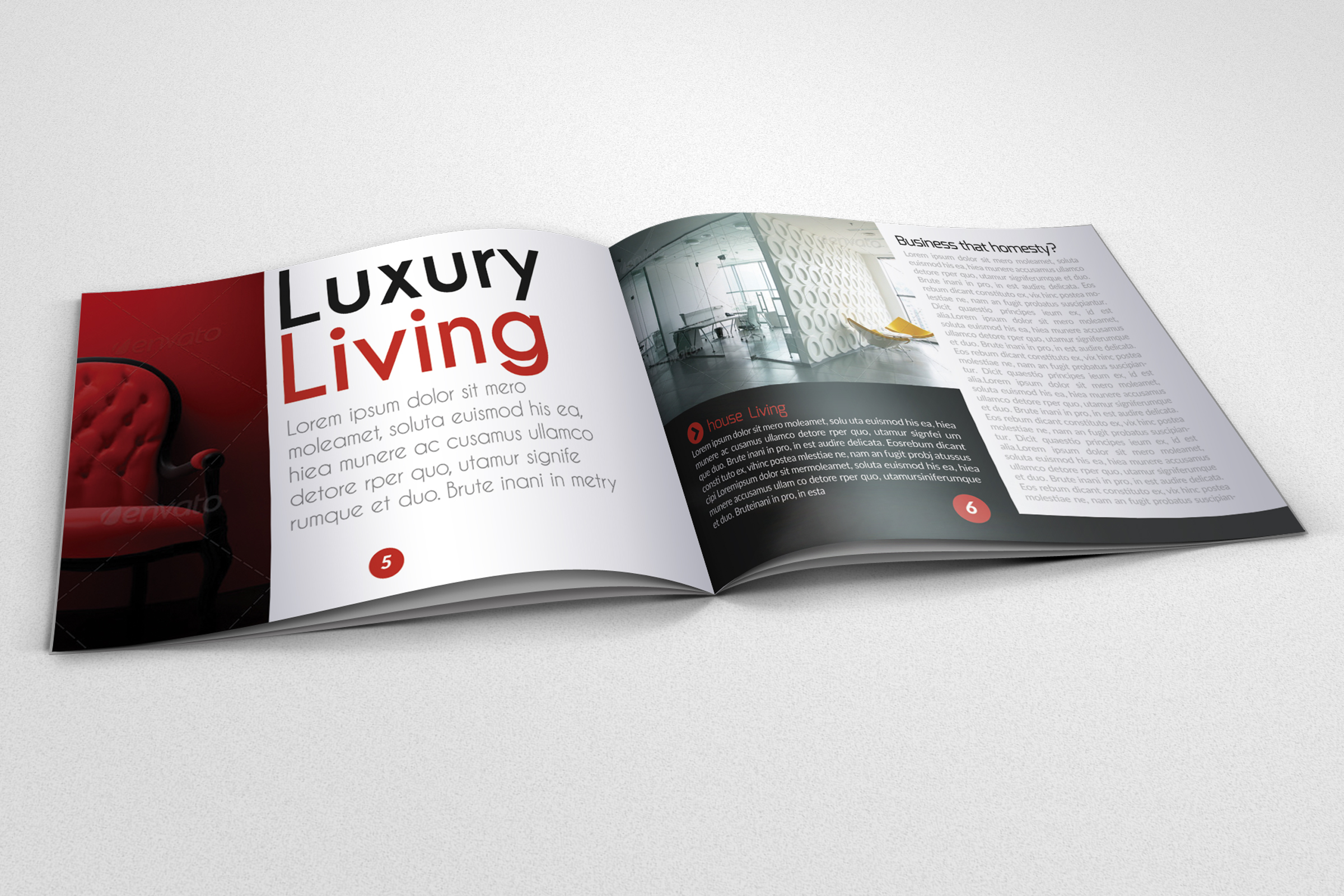 20 Pages Catalogue Business Bifold Brochure  example image 8