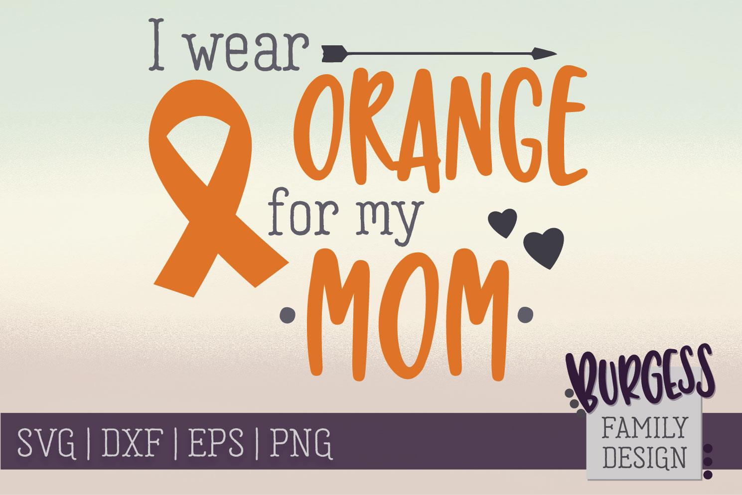 BUNDLE | I wear orange for my family | SVG DXF EPS PN example image 8