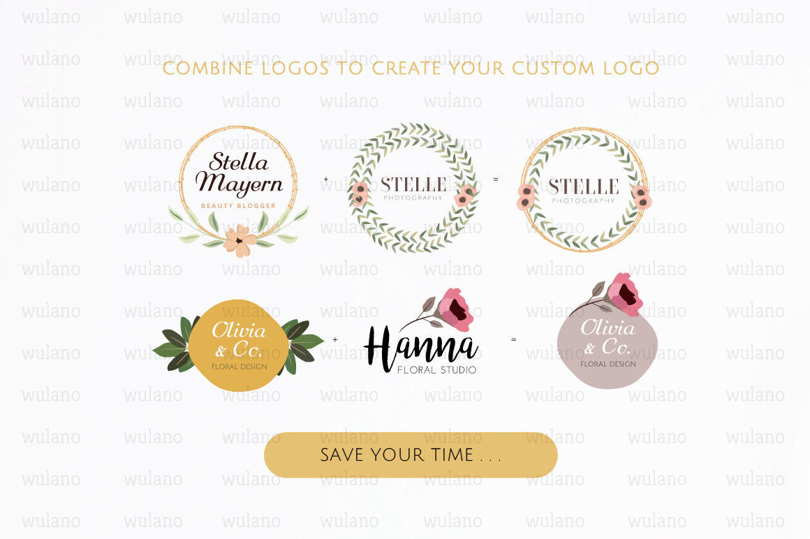 Floral Logo Templates Vol.1 example image 3