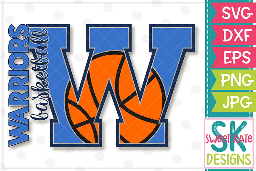 W Warriors Basketball SVG DXF EPS PNG JPG example image 2