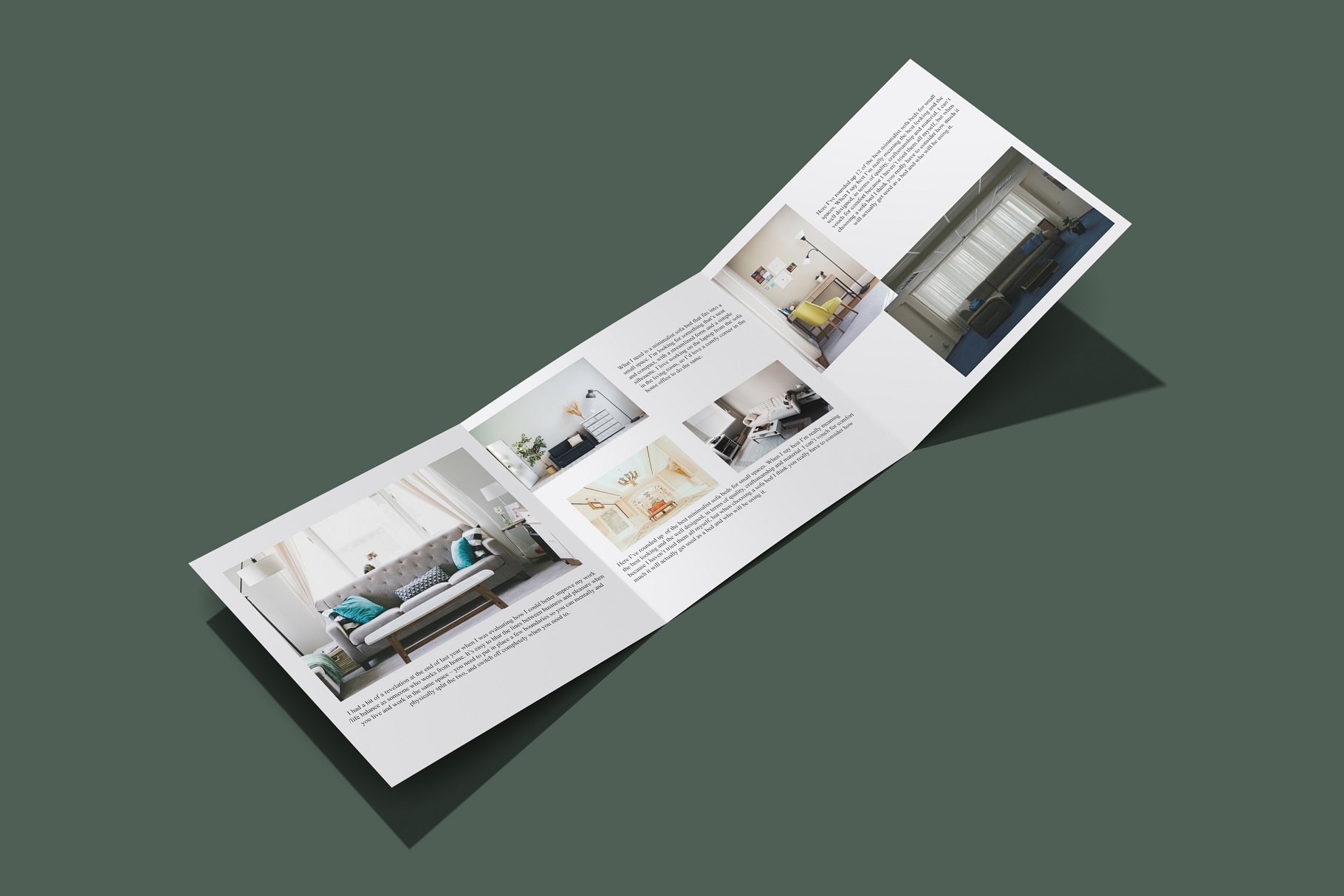 Square Trifold Brochure Mockup example image 6