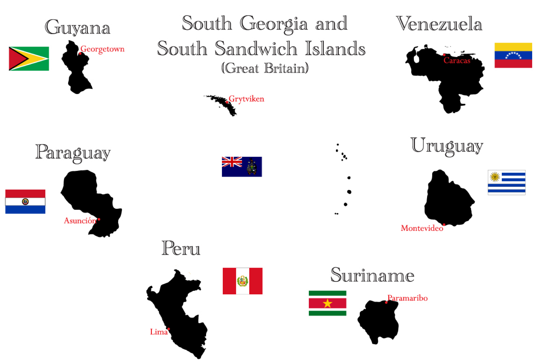 Countries of North and South America example image 5