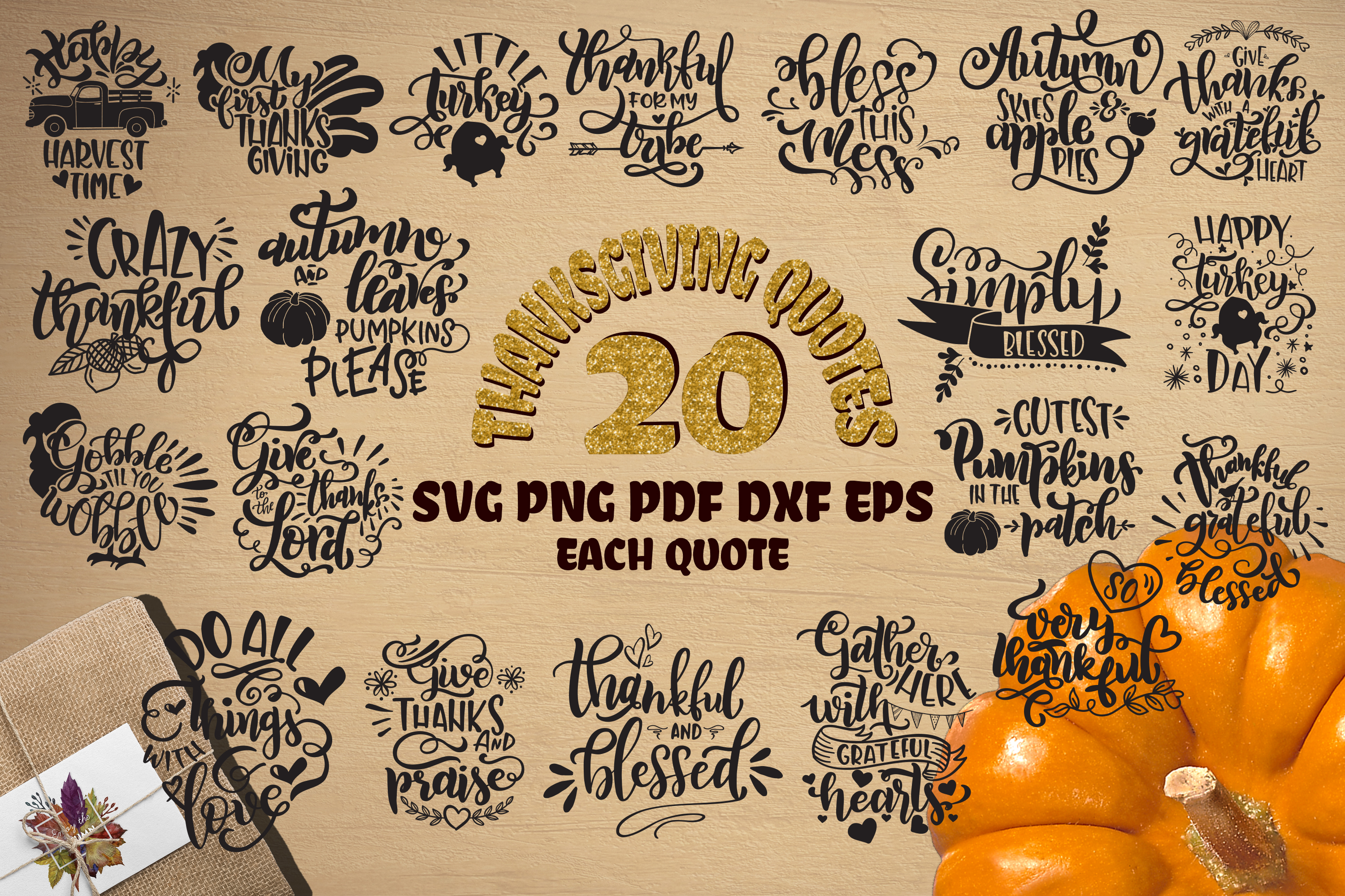 Fall svg BUNDLE BIG set of 80 quotes Autumn Thanksgiving example image 3
