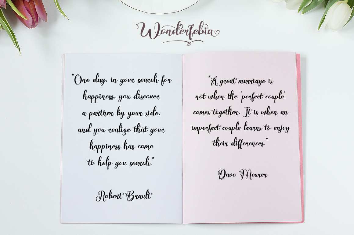 Wonderfebia - Script Wedding Font example image 4