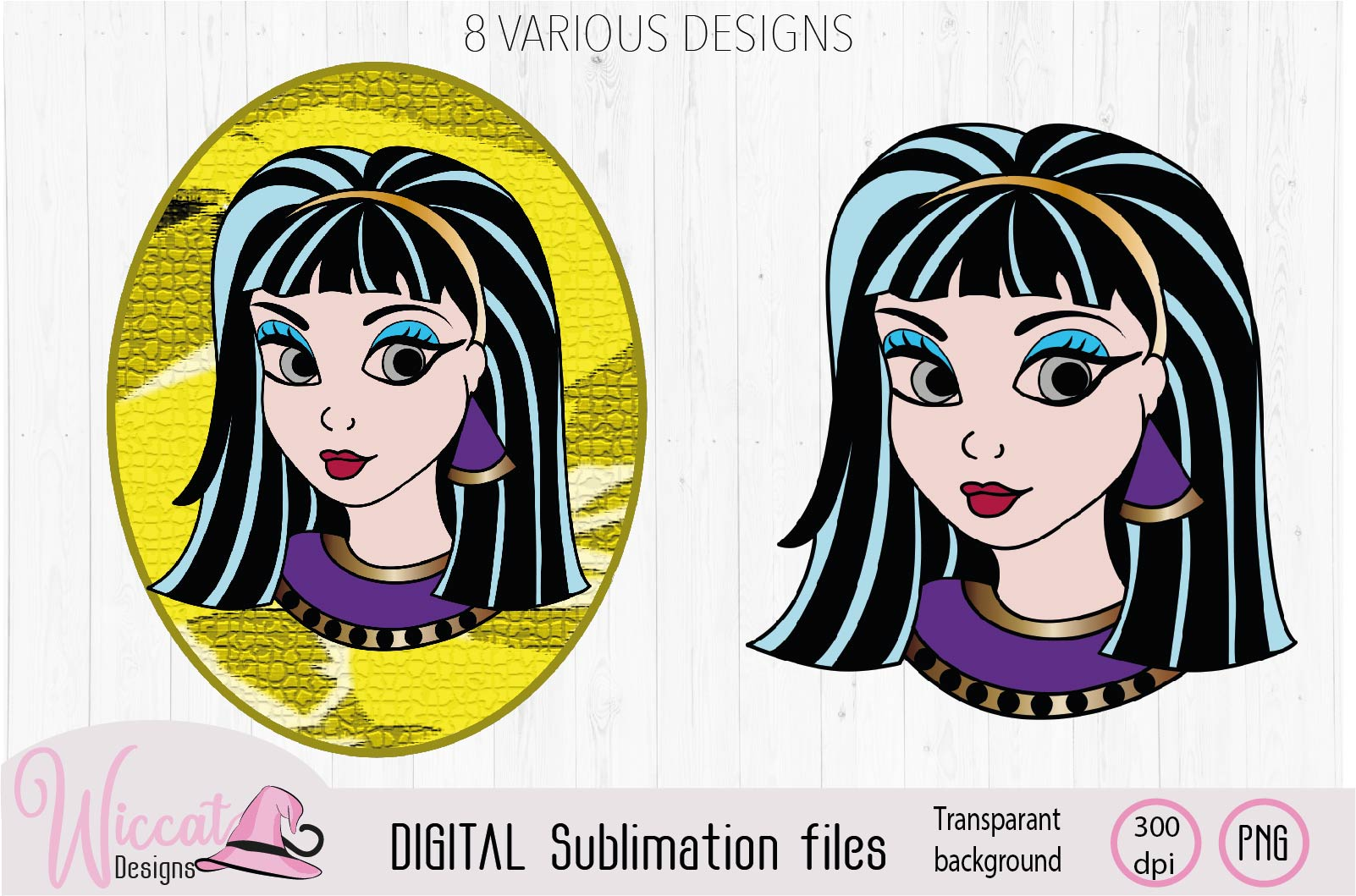 Cleopatra Girl face sublimation example image 3