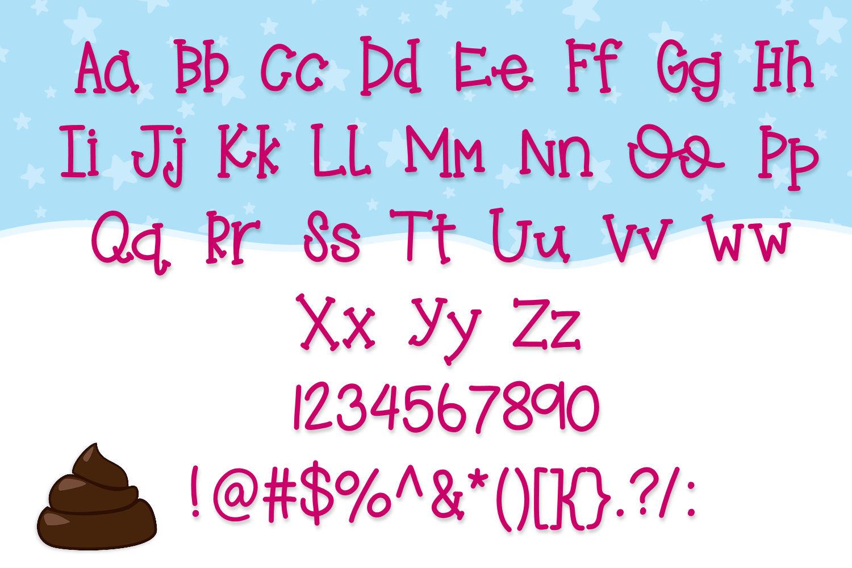Penguin Poop, A fun Handwritten font example image 4