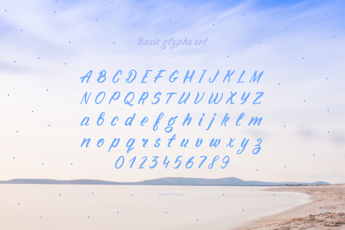 Junior—handwritten font example image 4