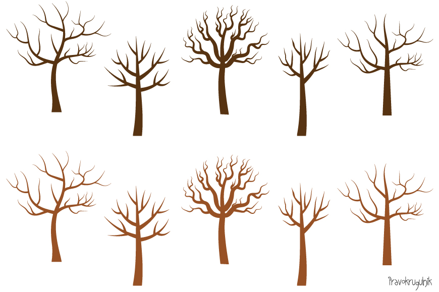 Bare tree silhouette clipart, Leafless tree clip art ...