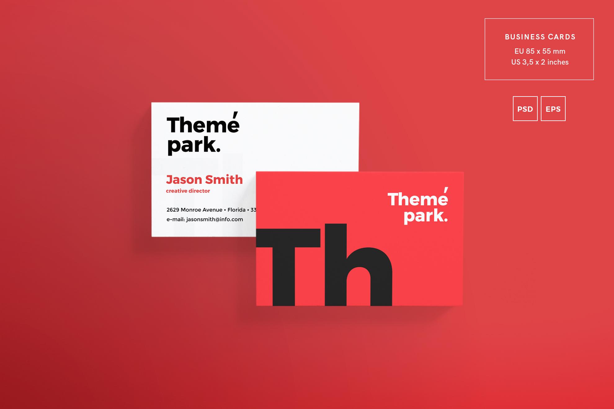 Theme Park Party Entertainment Design Templates Bundle example image 2