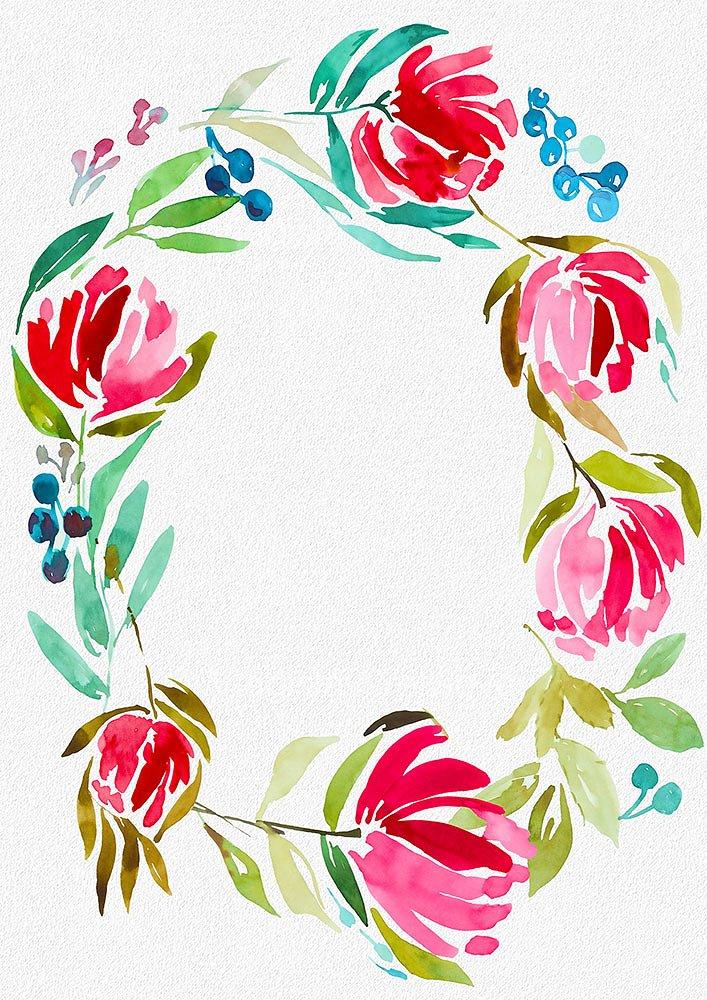 3 Watercolor Digital Frames example image 4
