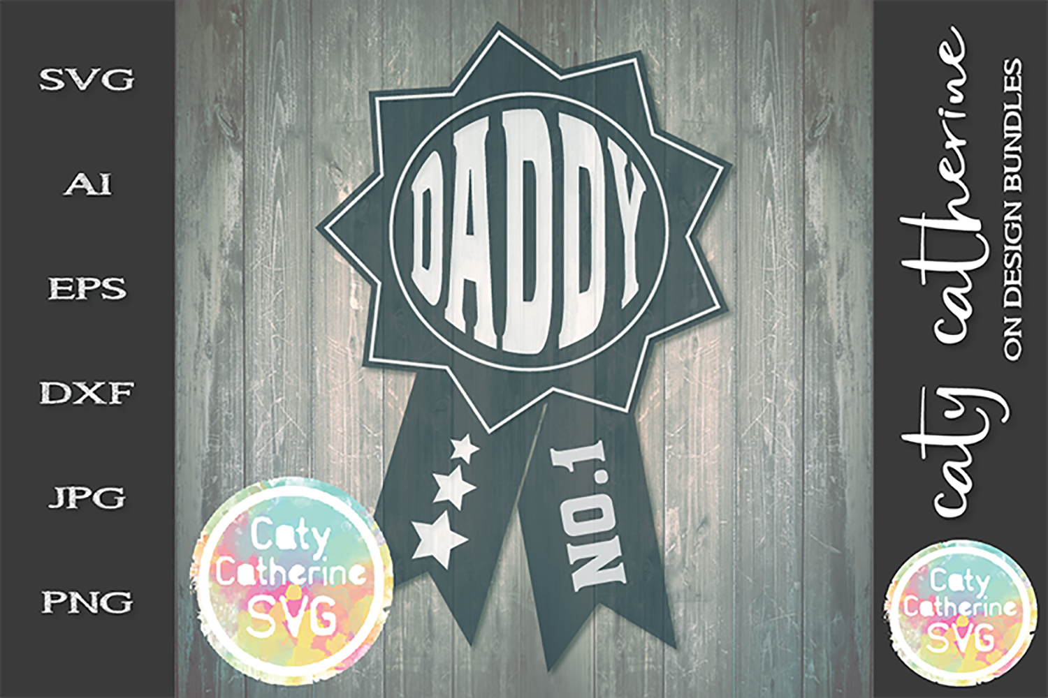 Daddy Father's Day Award SVG Cut File example image 1