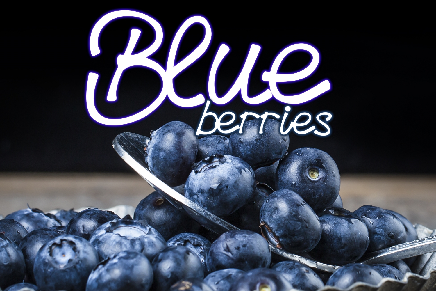 Blueberries - A Menu Font example image 1