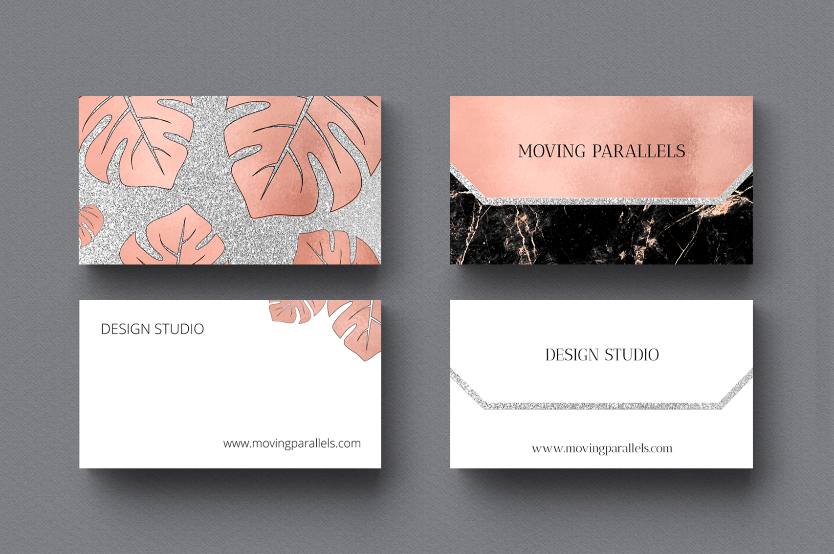 Rose Gold Marble Business Cards Bundle example image 7