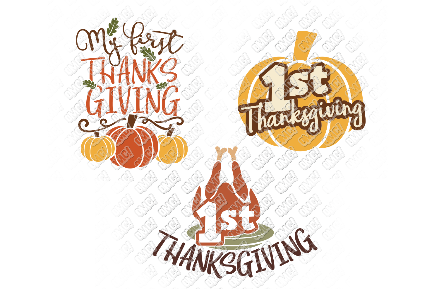 My First Thanksgiving SVG Baby in SVG, DXF, PNG, EPS, JPEG example image 2