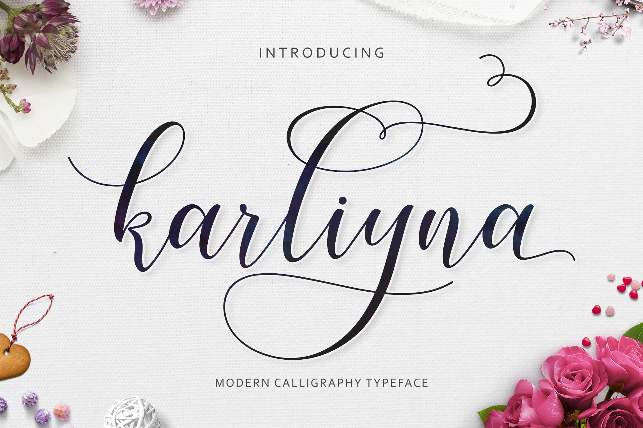Karliyna Script example image 1