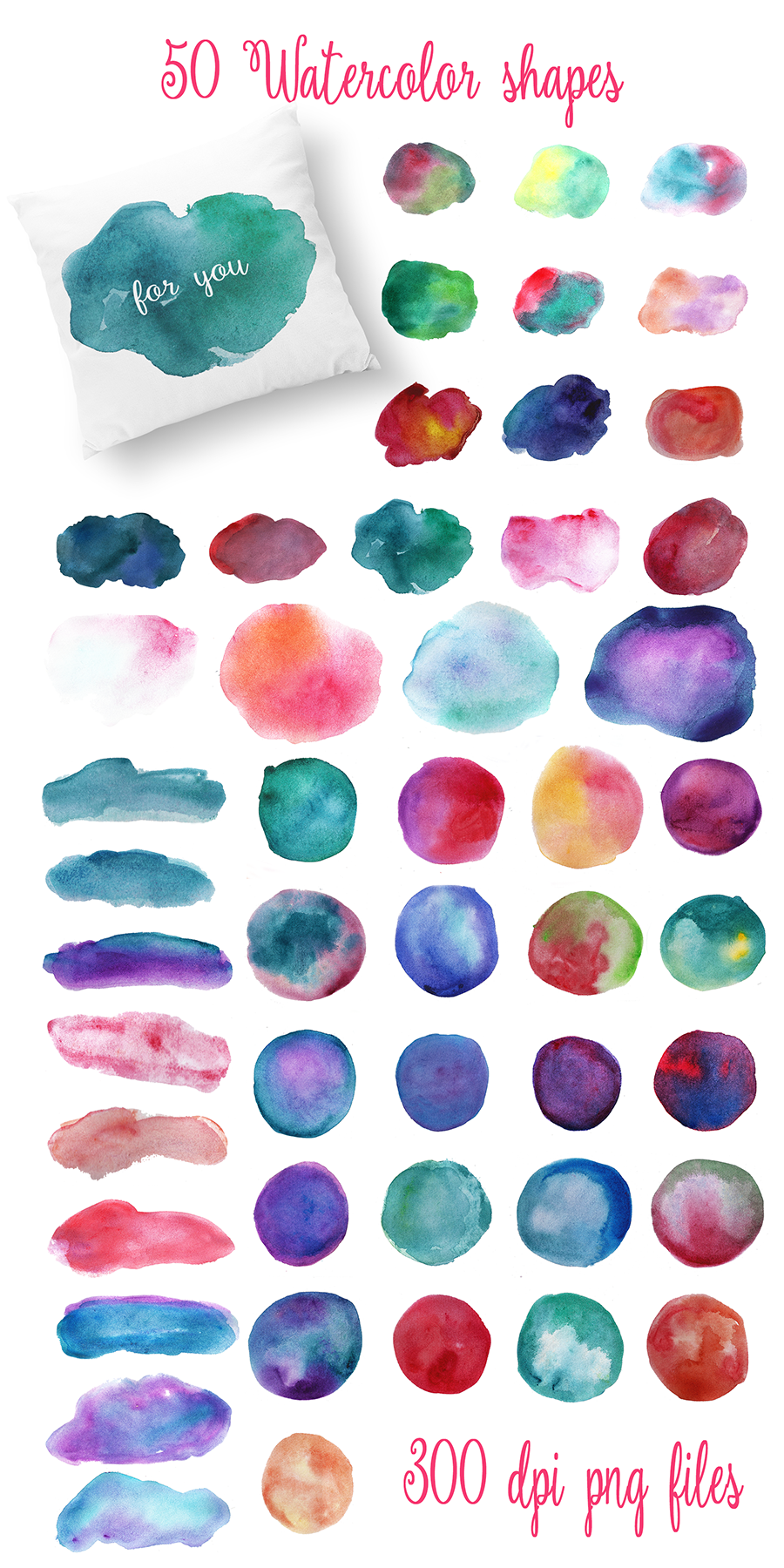 Complet Watercolor Textures Kit example image 7